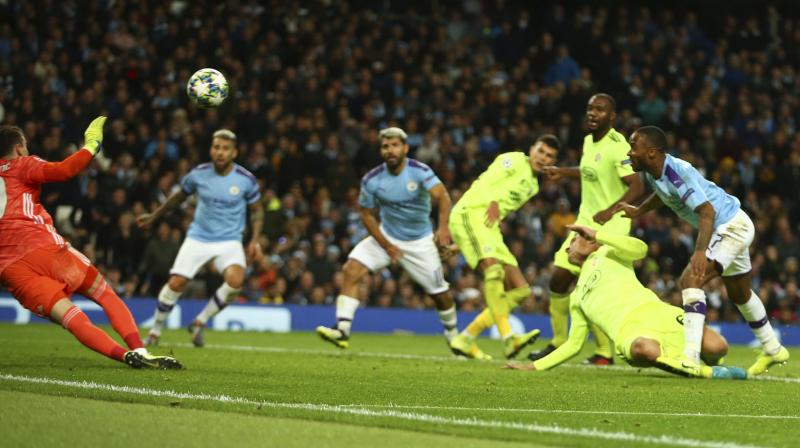 Manchester City made it two wins out of two in Champions League Group C after goals from substitutes Raheem Sterling and Phil Foden gave Pep Guardiola's side a 2-0 victory over Dinamo Zagreb on Tuesday. (Photo:AP)
