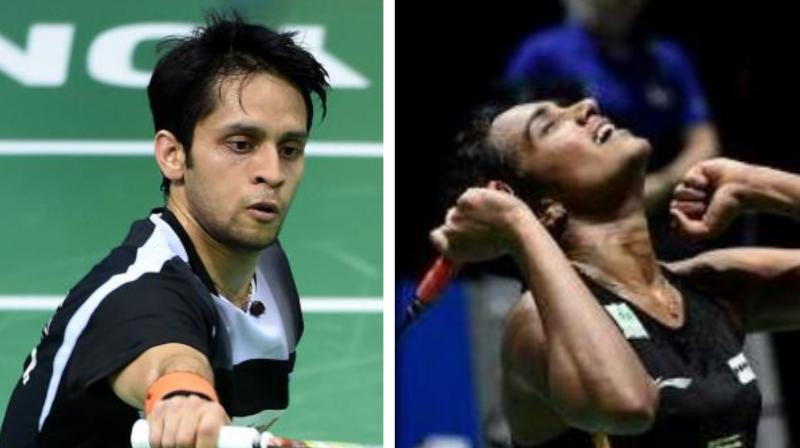Indian badminton player PV Sindhu on Tuesday slipped to the sixth spot in the latest BWF Rankings while Parupalli Kashyap moved up by five positions to make his way in the top 25 rankings. (Photo:AFP)