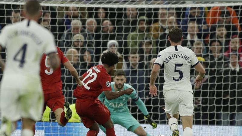 Serge Gnabry scored four second-half goals as Bayern Munich came from behind to hand last season's runners-up Tottenham Hotspur a stunning 7-2 home defeat in the Champions League on Tuesday. (Photo:AP)