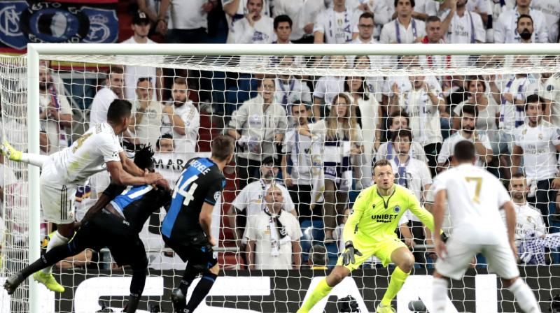 Zinedine Zidane's team came storming back as Sergio Ramos headed in before Casemiro claimed a dramatic equaliser in the 85th minute, seconds after Ruud Vormer had been sent off for the visitors. (Photo:AP)