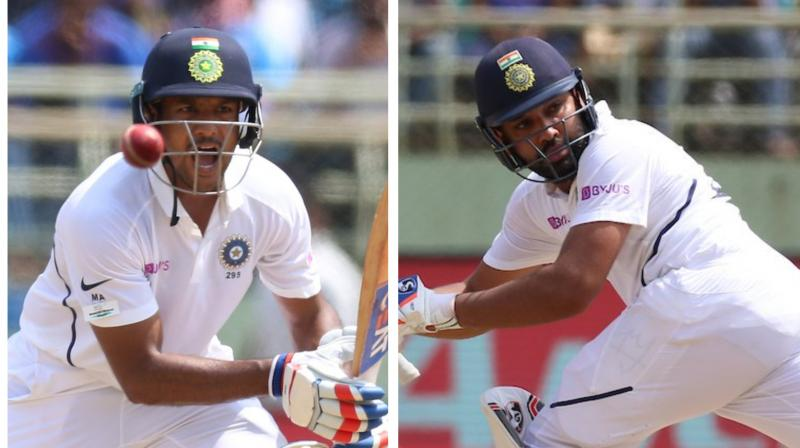Rohit Sharma made a dream start as a Test opener, scoring an unbeaten 115 off 174 balls to take India to a commanding 202 for no loss at tea on day one of the series opener against South Africa here on Wednesday. (Photo:BCCI/TwitteR)