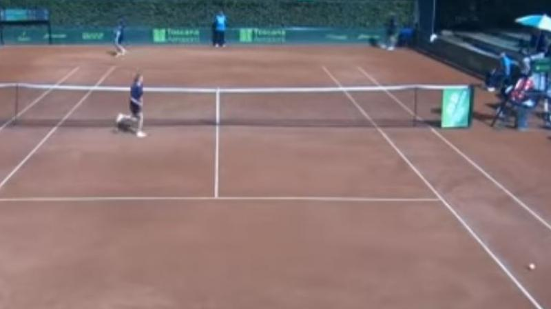 Umpire Gianluca Moscarella addressed the girl during a second-tier ATP men's tournament in Florence, Italy, last week, during which he was also accused of inappropriate conduct towards one of the players. (Photo:screengrab/Twitter)