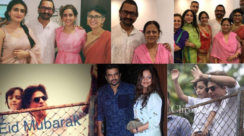 Bollywood celebrities enjoyed a joyous Eid al-Adha together with their family and friends in Mumbai on Wednesday. (Photos: Viral Bhayani/ Instagram)