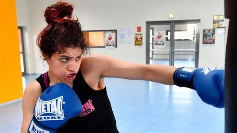Khadem took up boxing four years ago, being compelled to train in private fitness rooms since public boxing facilities are reserved for men. (Photo: AFP / File)