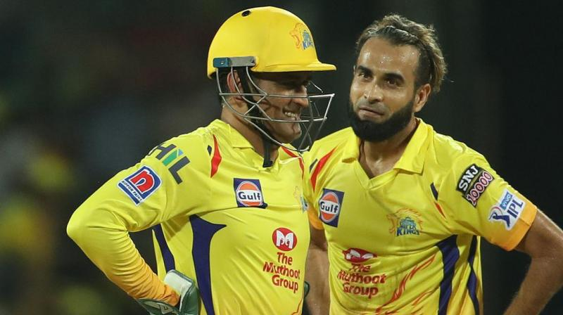 """Captain cool MS Dhoni may have been in the eye of criticism for his on-field behaviour recently but for his Chennai Super Kings teammate Imran Tahir, the former India captain remains """"a great inspiration"""". (Photo: BCCI)"""