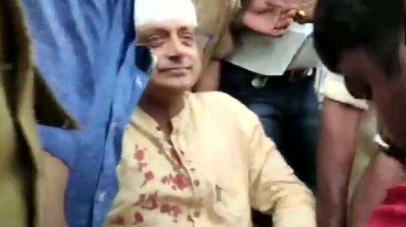 Later, the Congress leader was rushed to a hospital and doctors said his condition was stable. (Photo: ANI | Twitter)