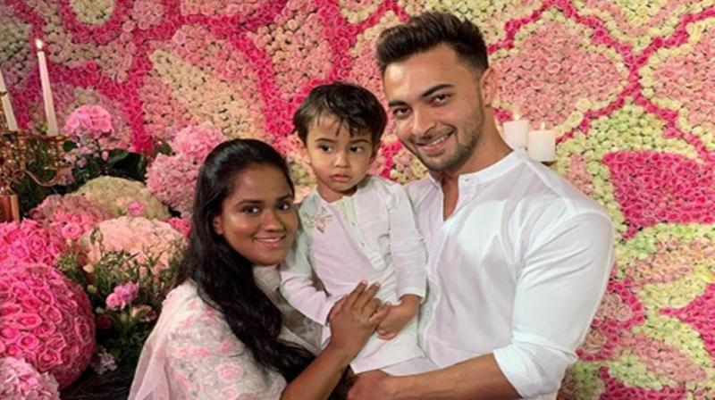 Arpita Khan and Aayush Sharma with son Adil. (Photo: Instagram)