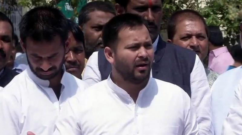 RJD leader and former deputy chief minister of Bihar Tejaswi Yadav also questioned the delay in the arrest of the accused BJP worker Manoj Baitha. (Photo: Twitter | ANI)