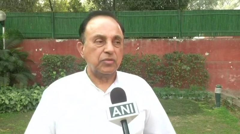 BJP leader Subramanian Swamy said Sridevi had a 'fetish for health' and she 'never touched hard drinks'. (Photo: Twitter | ANI)