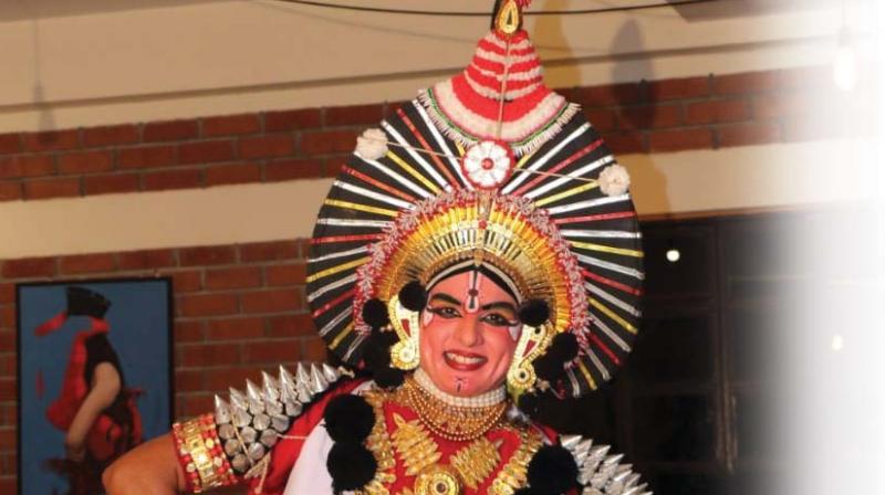 A still of a Yakshagana artiste from a previous show.