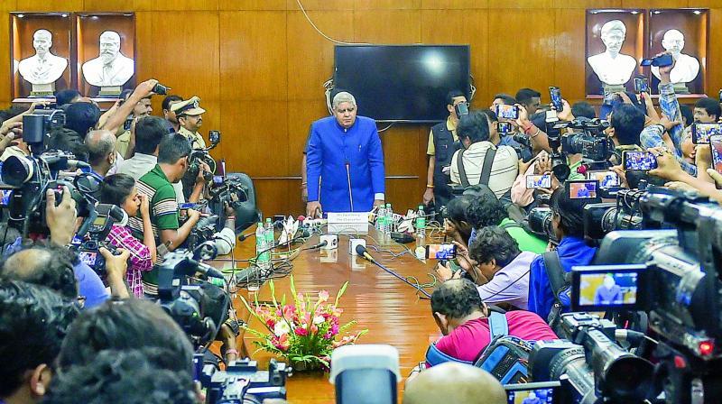 West Bengal Governor Jagdeep Dhankhar. (Photo: File)