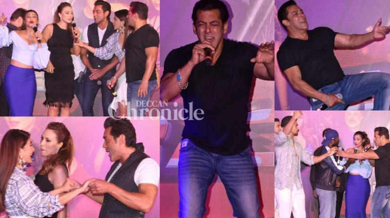The team of 'Race 3' launched their much-anticipated song 'Allah Duhai Hai' at a grand event in Mumbai on Friday. (Photo: Viral Bhayani)