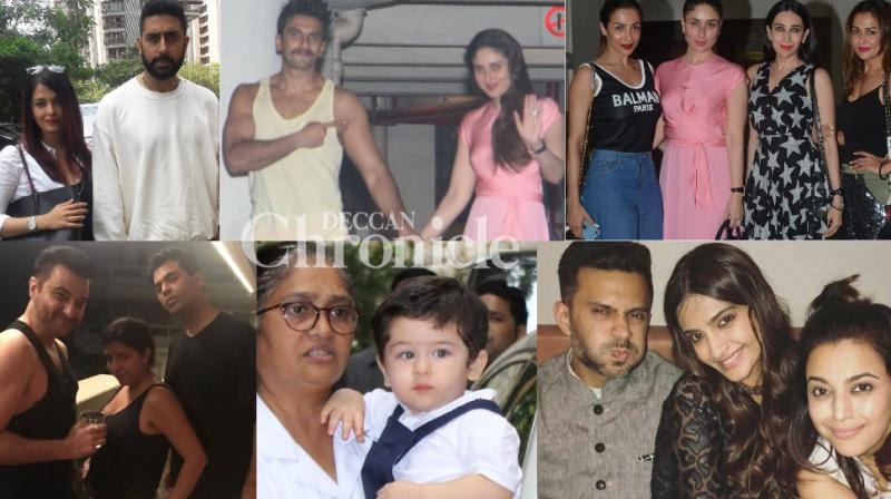 Bollywood celebrities were clicked as they celebrated various occasions involving their colleagues in Mumbai on Friday. (Photos: Viral Bhayani/ Instagram)