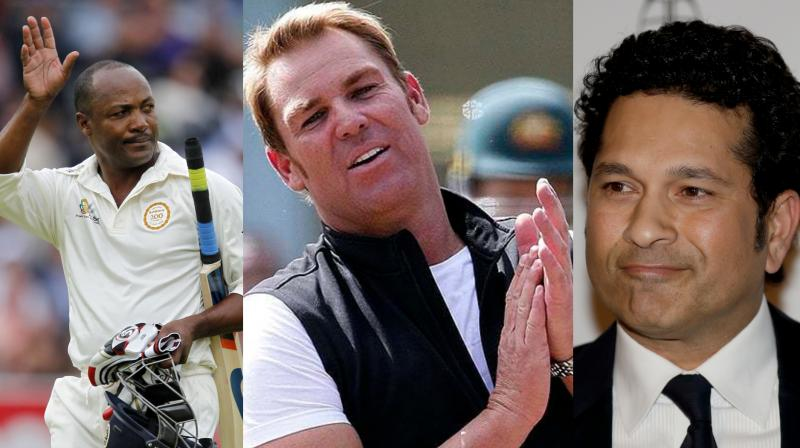 Known to speak his mind, the 49-year-old Shane Warne, while refusing to get into a debate on who between Sachin Tendulkar and Brian Lara was the best batsman of his generation, did say that he would want the Indian to bat for his life. (Photo: AFP / AP)