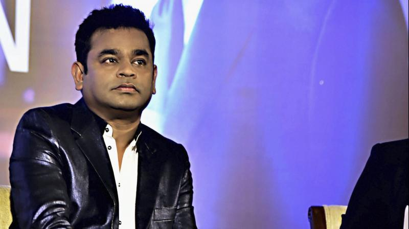Music composer A R Rahman at launch of his biography 'Notes of Dream' in Mumbai on Sunday. (Photo: PTI)