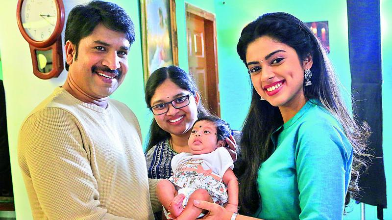 Srinivas Reddy's newborn debuts