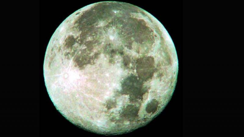 A blue moon seen in Andhra Pradesh  in August, 2012. (File photo)