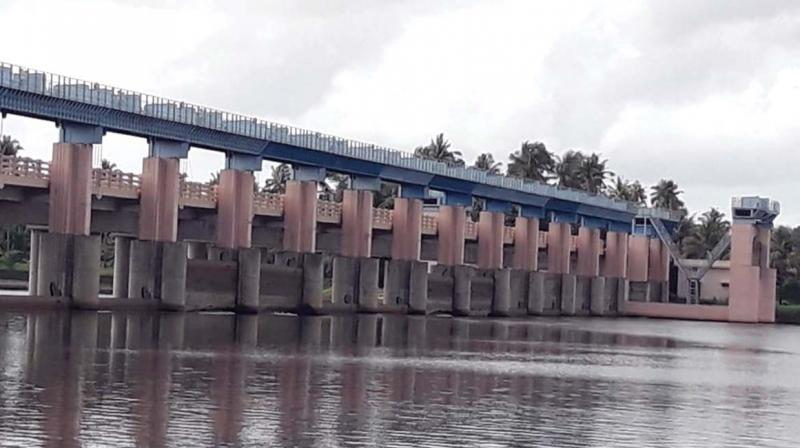 Purappallikkavu regulator cum bridge in Periyar