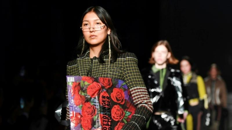 Ottolinger's tartans were a millennials' take on Lagerfeld's Chanel classics. (Photo: AFP)