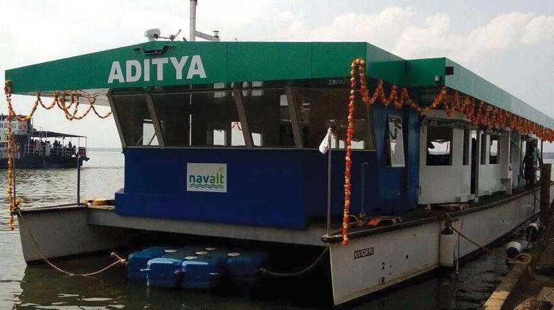 Solar ferry boat 'Aaditya'