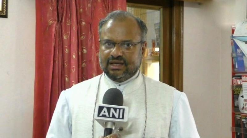 Jalandhar Bishop Franco Mulakkal has assured of his cooperation in the investigation of the case. (Photo: Twitter | ANI)