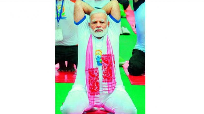 As for Prime Minister Narendra Modi, his fitness levels are something that stuns all his opponents.