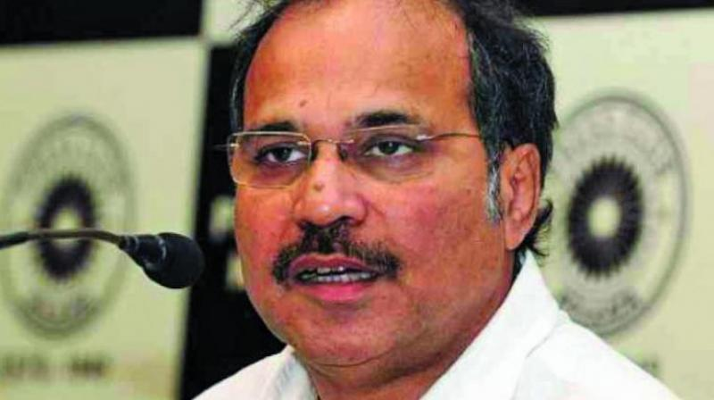 "Adhir Ranjan Chowdhury, leader of Congress in Lok Sabha, demanded here on Friday that government should constitute a committee to scrutinize ""electoral bonds"" and alleged that it is a conspiracy to fill the coffers of BJP for election funding. (Photo: File)"