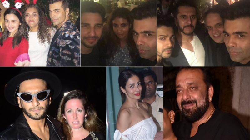 Bollywood stars were spotted at various bashes held in Mumbai late Friday. (Photo: Viral Bhayani/ Instagram)