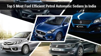 Though SUVs are all the rage these days, Indians haven't set aside their penchant for three-box cars. Speaking of fuel choices, diesel cars had risen as a preferred option in almost every segment during the mid-2000s in the country Let us check out five most fuel-efficient petrol automatic sedans in the country. (Source: CarDekho.com)