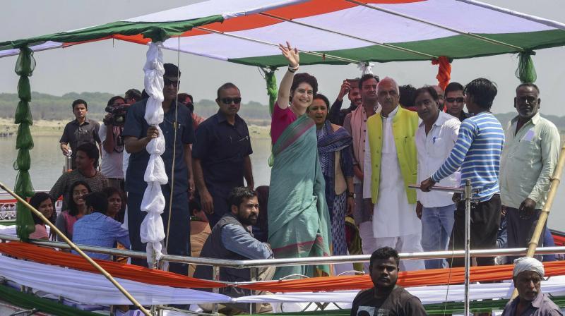 Priyanka Gandhi begins 3-day UP visit, offers prayers at temple