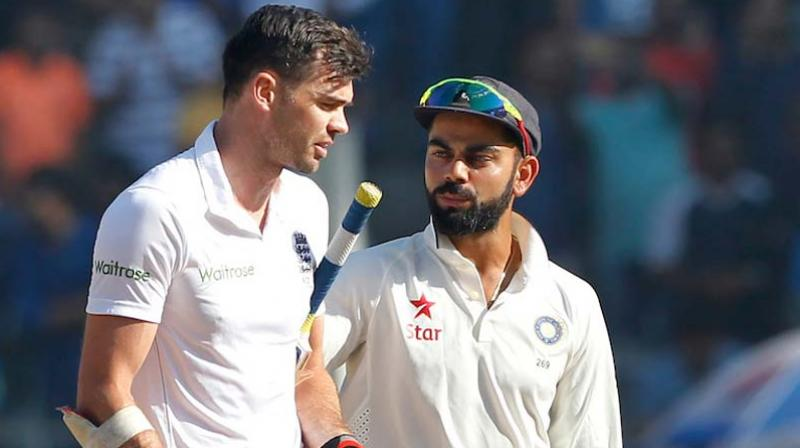 Virat Kohli's childhood coach Rajkumar Sharma questioned England pace spearhead James Anderson's performance on Indian wicket. (Photo: BCCI)
