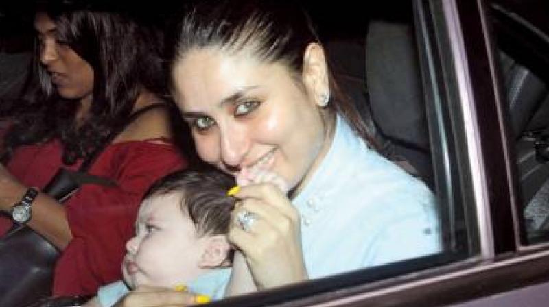 Kareena Kapoor Khan with baby Taimur Ali Khan.