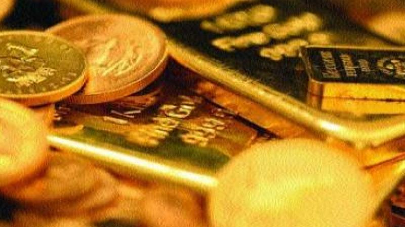 Meanwhile, gold fell 0.02 per cent at USD 1,284.30 an ounce in Singapore.