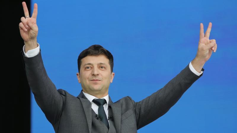 'I will never let you down,' Zelensky told jubilant supporters at his campaign. (Photo:AP)