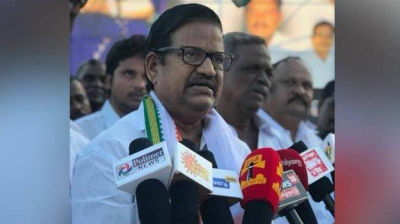 Talking to reporters at the airport here, TNCC president K S Azhagiri said Prime Minister Narendra Modi was changing his political stance, sensing fear and unnecessarily raising the issue about Rahul Gandhi and his citizenship. (Photo: Facebook I KS Alagirl)