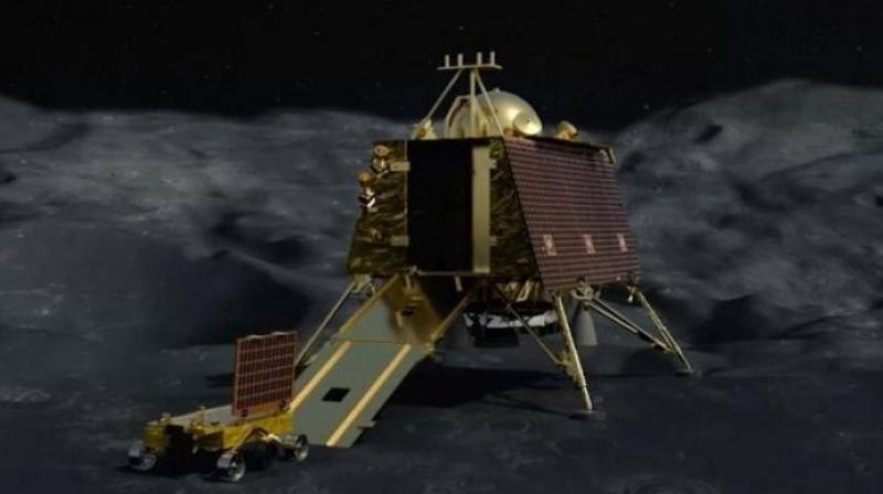 ISRO chairman K Sivan announced that communication with the lander was lost at 2.1 km from the lunar surface.. (Photo: Twitter)