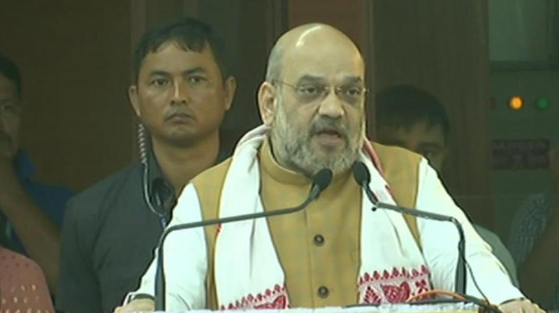 'I have clarified in Parliament that this is not going to happen and I am saying it again today in the presence of eight chief ministers of North East that the Centre will not touch Article 371', Shah added. (Photo: ANI)