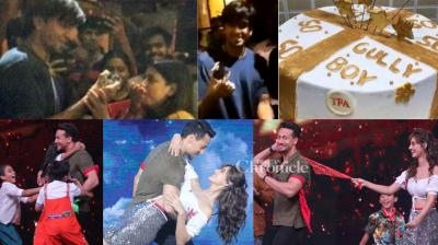 The teams of 'Baaghi 2' and 'Gully Boy' had reasons to cheer as they reached important stages of their respective films. (Photo: Viral Bhayani/ Instagram)