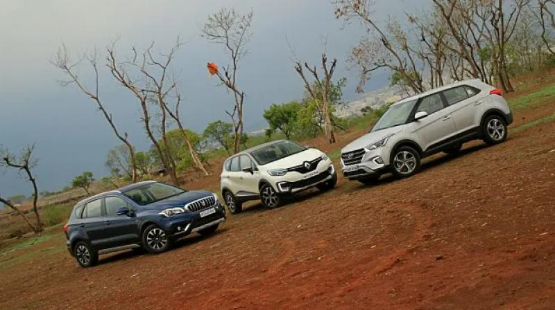 The S-Cross, though second, is far behind the Creta.