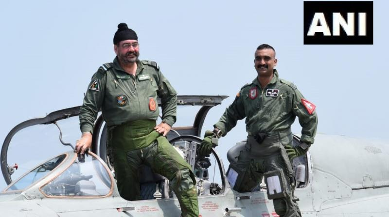 Abhinandan had been grounded due to ejection from his MiG-21 which had been shot down in aerial conflict with Pakistan Air Force F-16s. (Photo: ANI)
