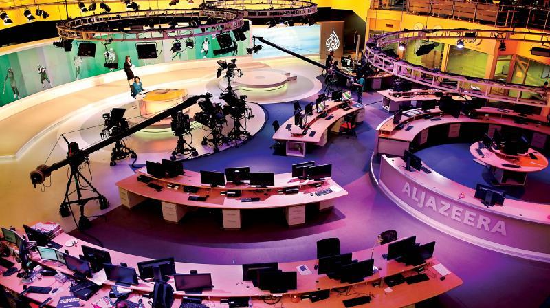 File photo of Al-Jazeera news studio in Doha, Qatar (Photo: AP)