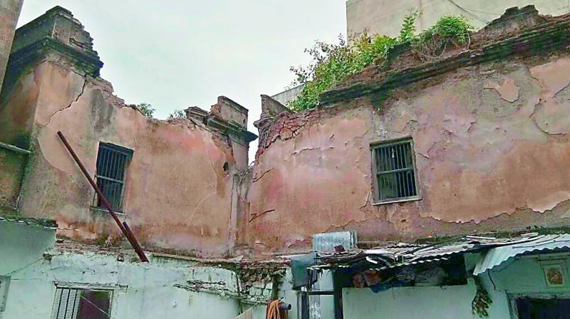 A view of the dilapidated private structure, which was  abandoned 10 years ago.(Photo: DC)