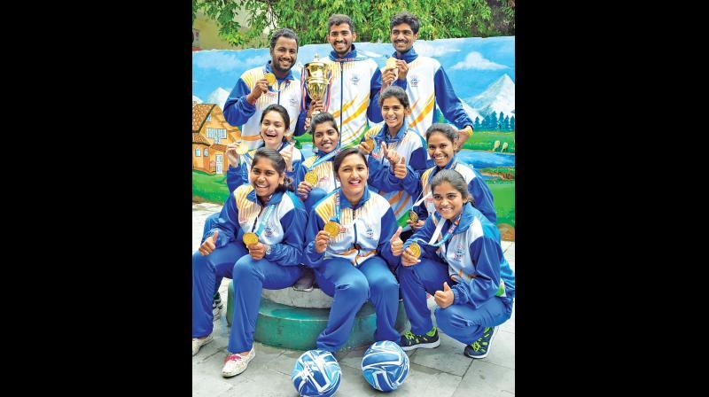 (Standing, first row) Charan, Kiran, Shamith, (sitting, middle row) Krisha, Krishna Induja, Harshitha, Greeshma, (third row) Aasritha, Sree Lekha and Mamatha