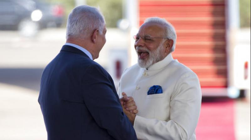 Modi said his visit celebrates the strength of centuries-old links between the two societies and 'based on these bonds, our partnership has maintained a strong and sustained upswing since the establishment of full relationship, diplomatic relations, 25 years ago.' (Photo: AP)