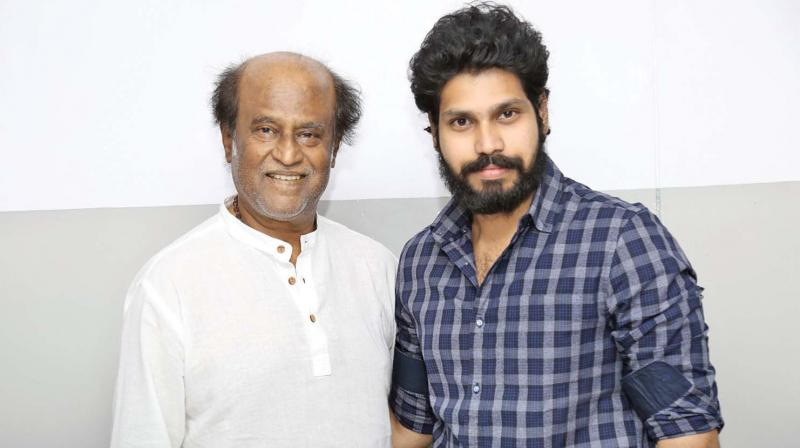 KIshore Ravichandran with RajiniKanth