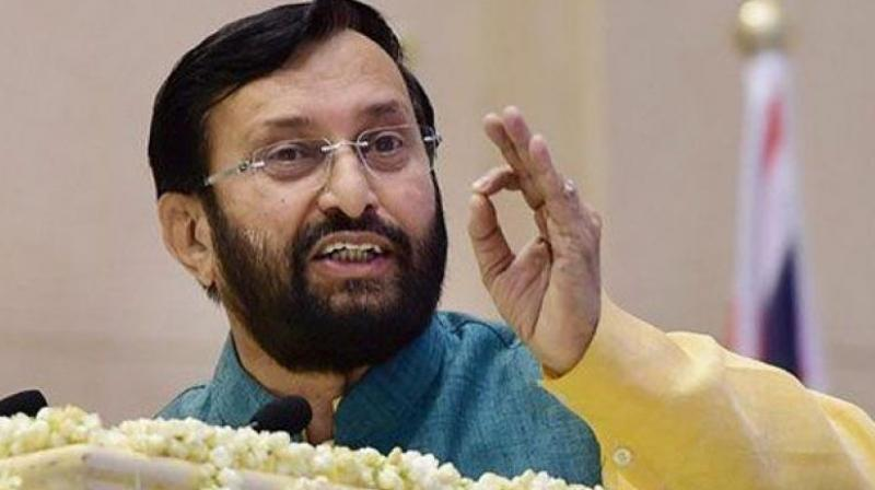 Javadekar was replying to a question on the West Bengal education minister's recent complaint that in 2017, the students appearing for NEET in vernacular languages had faced tougher questions than the ones set in English and Hindi. (Photo: PTI)