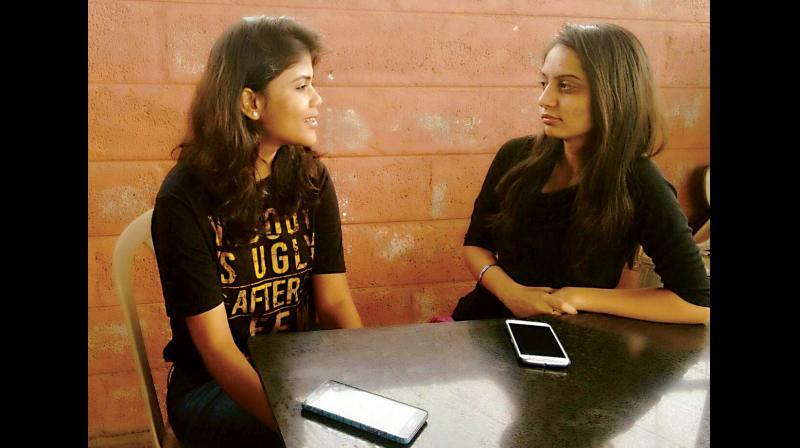 Neha(right) and Supriya (left).