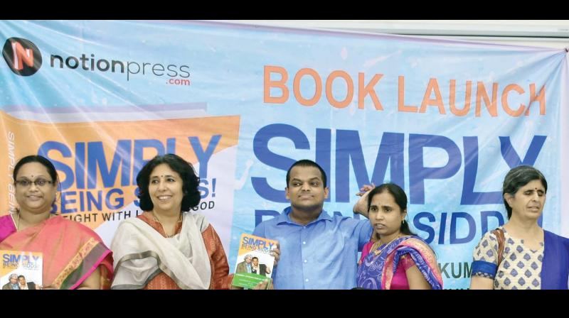 Umasree, Niyati Sareen, Siddharth, Chandrakala and Dipti Bhatiah at the launch of the book.
