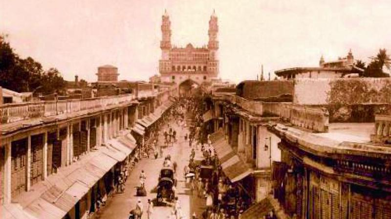 Raja Deen Dayal's photograph of the Charminar captured the gone glory of the monument's simplestic architectural surroundings