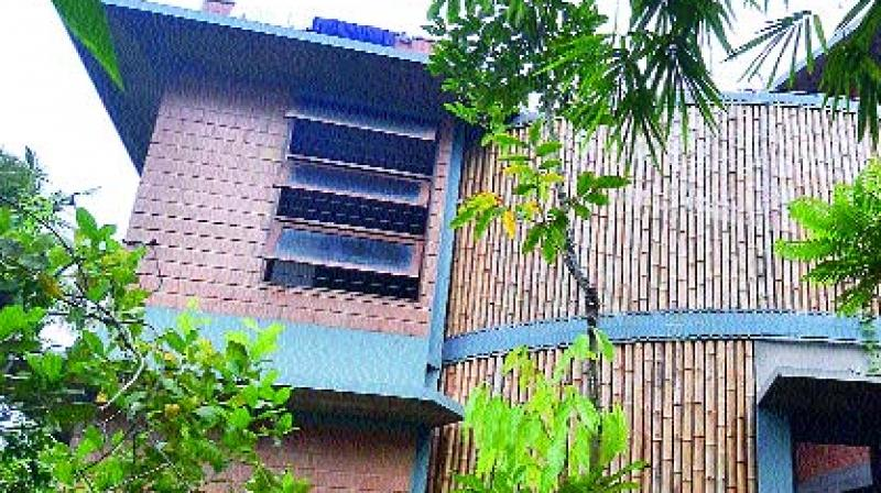 The craze for houses constructed with perforated walls using bamboos is picking up thanks to the efforts of architect R.S. Liza